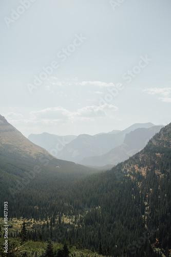 Foto op Canvas Grijs Glacier National Park