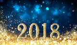 Happy New Year 2018 - Glittering With Golden Dust - 184179376