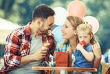 Happy Family Eating Ice-Cream - 184183193