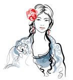 Traditional Spanish Flamenco woman - 184184356