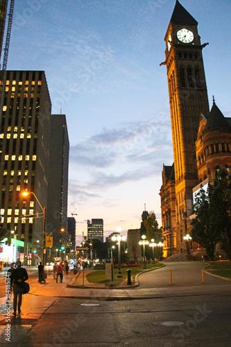 Keuken foto achterwand Toronto Une soirée de fin septembre tout près de l'ancien hotel de ville de Toronto