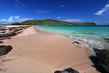 Secluded beach on Saint Kitts