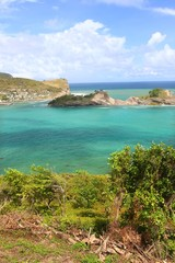 Dennery Bay Landscape Saint Lucia