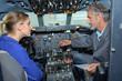 aircraft technician having a lesson