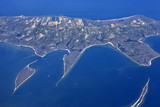 Aerial view of small island Key Biscayne - 184200395