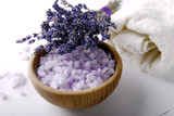 Aromatic salt with bouquet of lavender  - 184201763