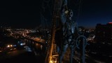 Monument to Peter the Great in Moscow at night - 184204114