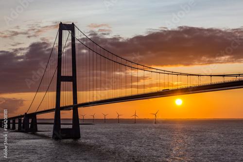 Fridge magnet Große Belt Brücke in Dänemark