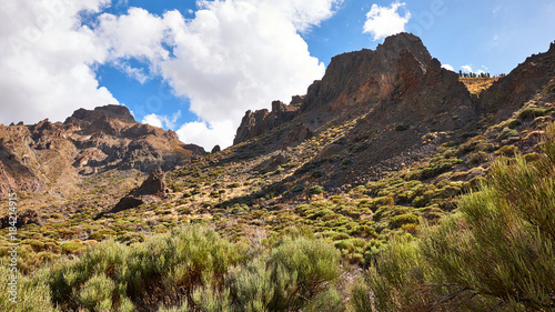 Keuken foto achterwand Blauwe hemel Landscape of Tenerife Hinterland