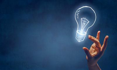 Bright idea concept