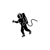 Astronaut Flat Icon. Elements of space Icon. Premium quality graphic design. Signs, symbols collection, simple icon for websites, web design, mobile app - 184220169