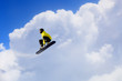Quadro Snowboarder making jump