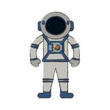 Astronaut cartoon isolated