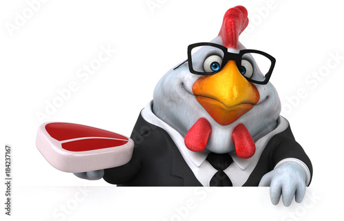 Fun chicken - 3D Illustration - 184237167