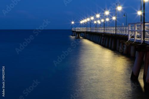 Aluminium Pier Wieczorne molo w Orłowie 2