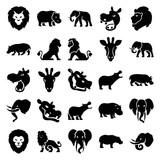 Set of 25 safari filled icons - 184247174