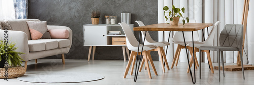 White and wooden furniture