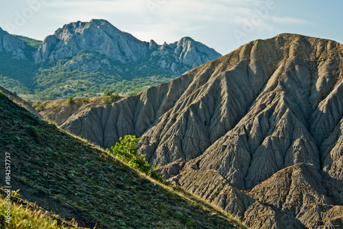 Poster Groen blauw The mountains