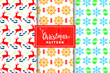 Christmas vector patterns - 184263587