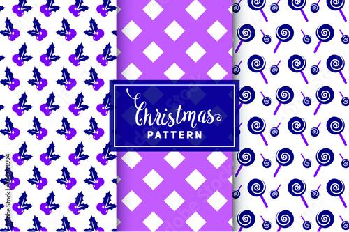 Fototapeta Christmas vector patterns