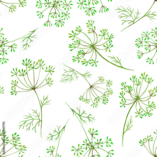 Watercolor floral vector pattern © zenina