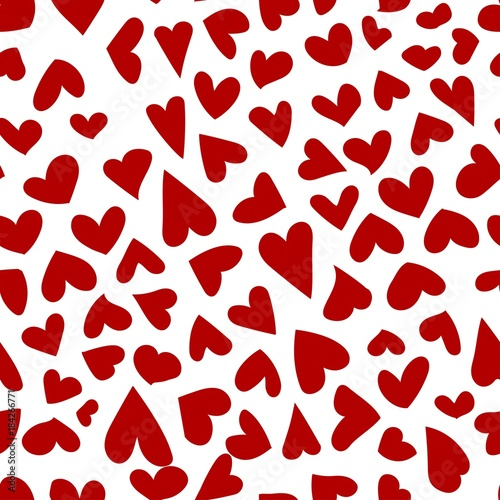 Happy Valentine's day. pattern of red hearts © Екатерина Рушева