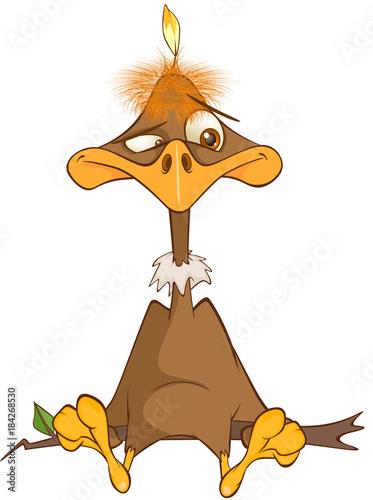 Foto op Canvas Babykamer Illustration of a Cute American Condor Cartoon Character