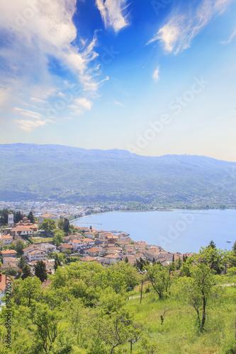 Foto op Aluminium Amusementspark Beautiful view of the coast of Lake Ohrid in Macedonia