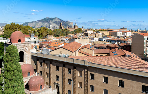 Keuken foto achterwand Palermo Top view of the Palermo cityscape, Sicily, Italy