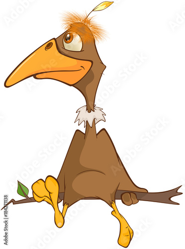 Papiers peints Chambre bébé Illustration of a Cute American Condor Cartoon Character