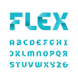 Paper font. Vector alphabet with fold effect letters. - 184271395