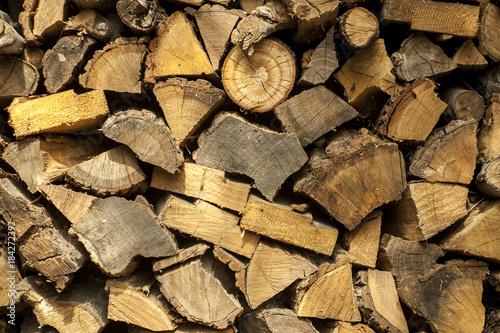 Foto op Canvas Brandhout textuur Firewood in texture