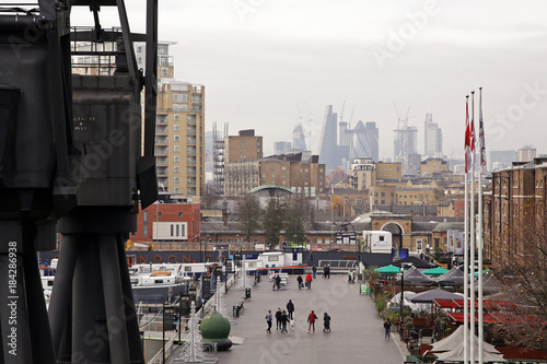 Foto op Canvas Londen docklands view at london city
