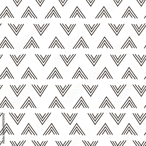 Abstract geometric fashion design print triangle wave pattern - 184286962