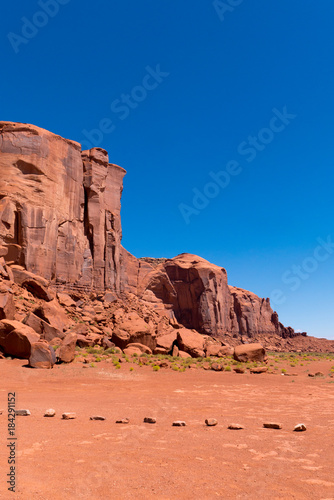 Deurstickers Koraal Monument Valley