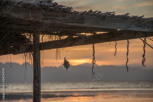Plexiglas Strand sinai sunrise