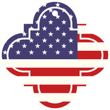 label and united states of america flag vector illustration - 184295954