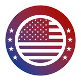 united states of america flag patriotism button icon vector illustration - 184296162