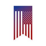 bunting united states of america flag symbol vector illustration - 184296185