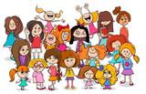 kid or teen cartoon girls characters group - 184297183