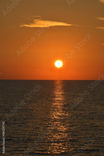 In de dag Cyprus Colourful sunset over the sea at Paphos Cyprus
