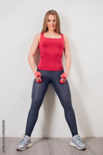 Sticker Fitness sport girl in fashion sportswear doing yoga fitness