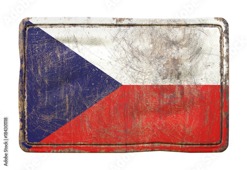 Tuinposter Praag Old Czech Republic flag