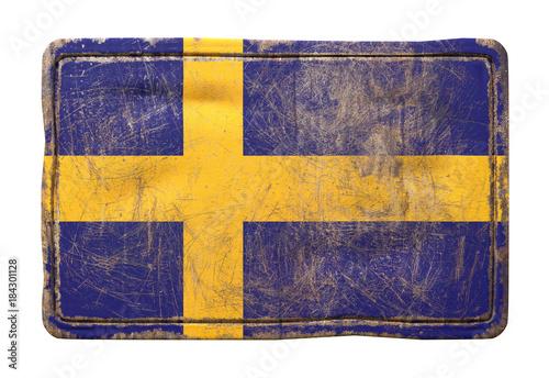 In de dag Stockholm Old Sweden flag