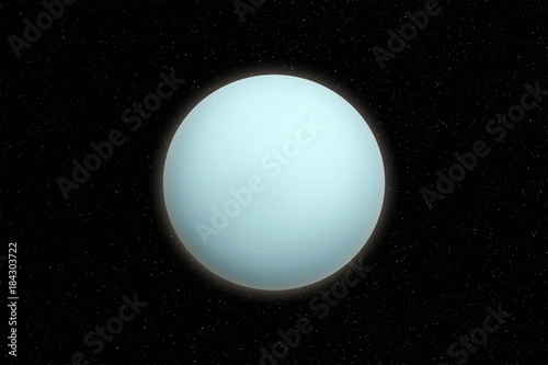 Poster Nasa Uranus planet in outer space. Elements of this image furnished by NASA