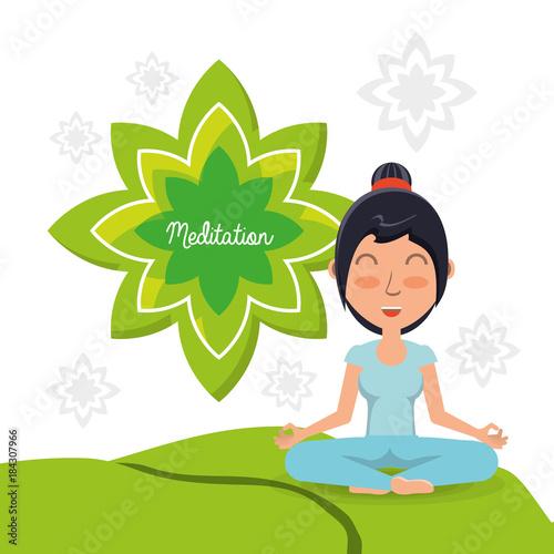Naklejka Meditation design concept