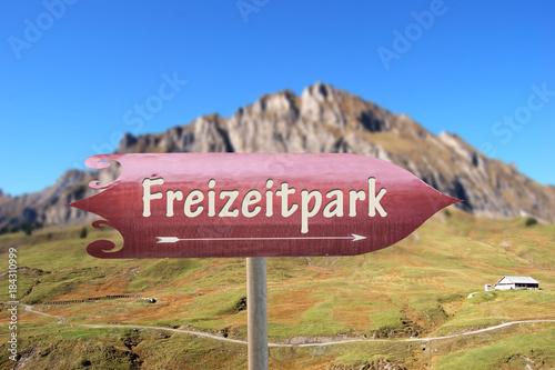 Foto op Aluminium Amusementspark Schild 250 - Freizeitpark