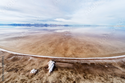 Keuken foto achterwand Blauwe hemel Great Salt Lake Utah