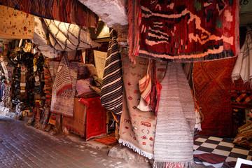 Teppiche in den Souks von Marrakesch