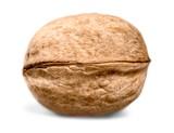 Single walnut isolated on a white background - 184319969